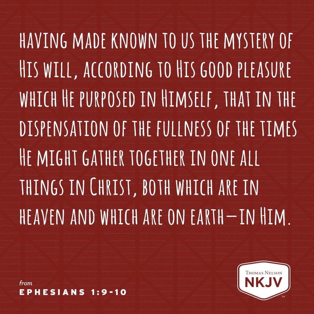 Ephesians 1:9-10